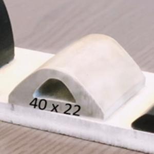 Défense de Quai Blanche   [40 x 22 mm]   Vendu au Mètre