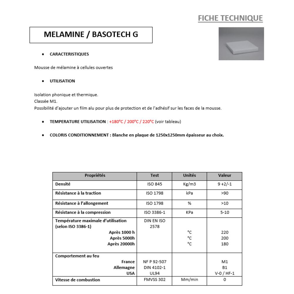 Mousse Mélamine M1 ADH + ALU   [EP 12 mm]   Format (1250 x 1250 mm)
