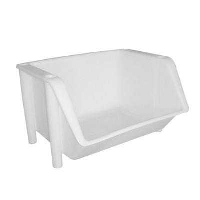 Bac superposable de stockage blanc