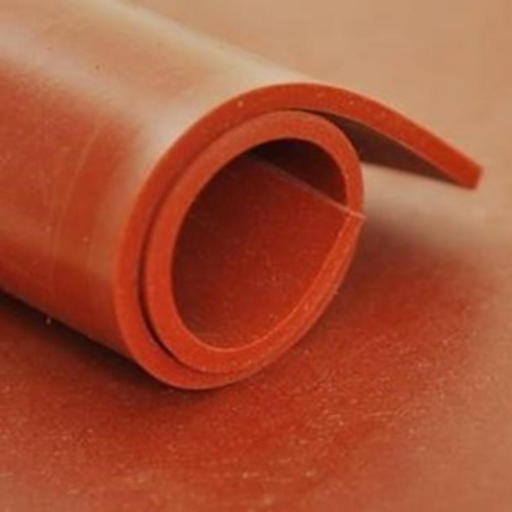 Feuille Silicone Rouge   [EP 4 mm]   Vendu au Mètre Linéaire 1m = 1,2 m²